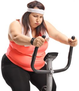Upright exercise bike for overweight