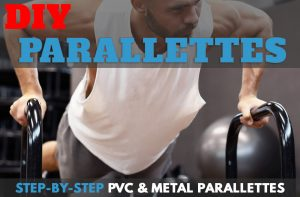 DIY Parallettes from PVC and Metal